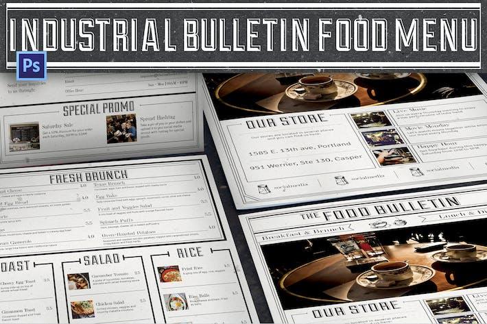 Thumbnail for Industrial Bulletin Food Menu
