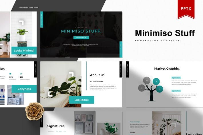 Thumbnail for Minimiso Материал | Шаблон Powerpoint