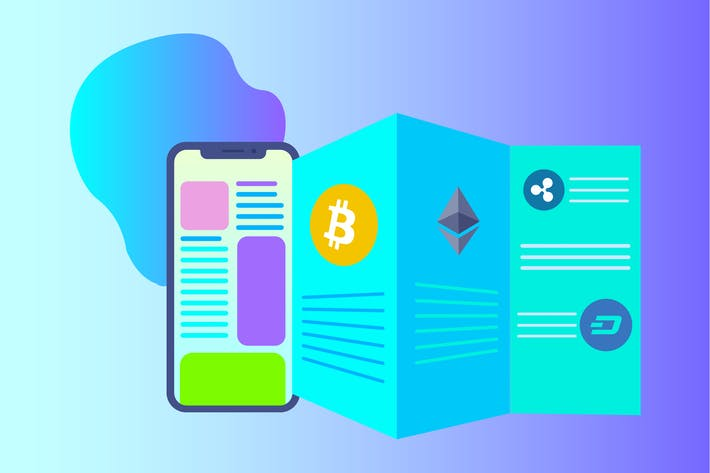 Thumbnail for Cryptocurrency News 2D Illustration