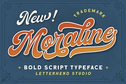 Moraline - Bold Script Typeface
