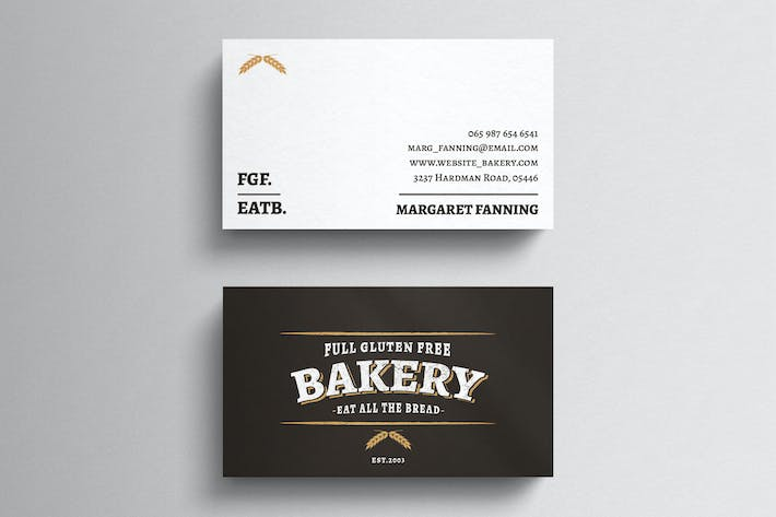 Thumbnail for Bakery Business Card Template