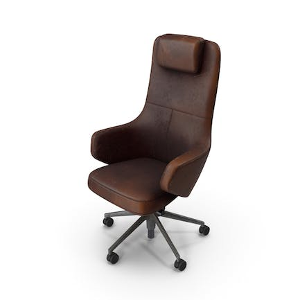 Office Chair Damaged Brown