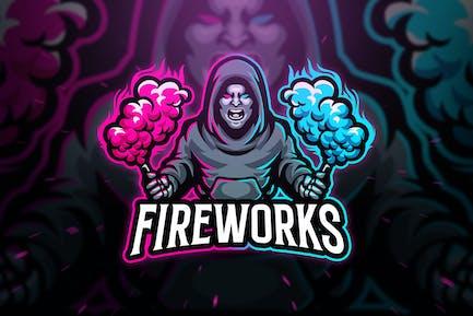 Fireworks Sport and Esport Logo Template