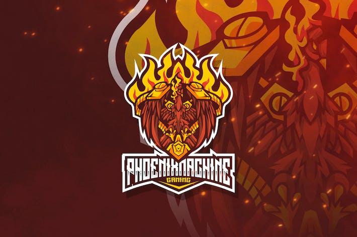 Thumbnail for Phoenix Machine Esport Logo Template