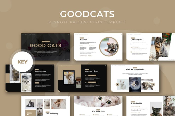 Cover Image For Good Cat - Keynote Template