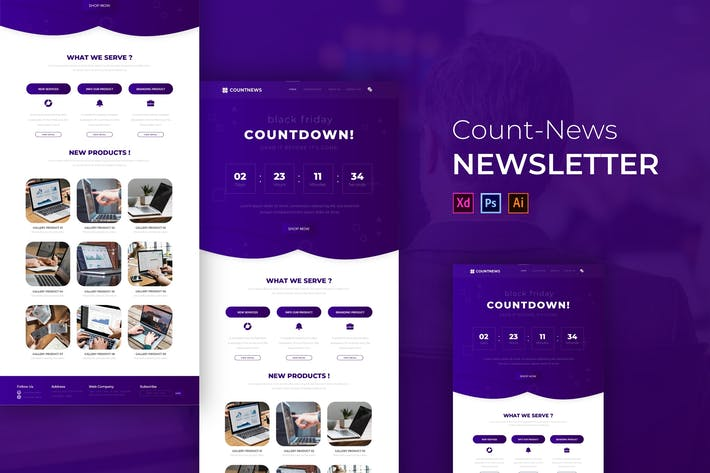 Thumbnail for Countnews | Newsletter Template