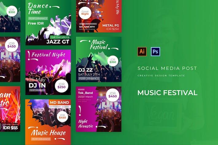 Thumbnail for Music Festival Social Media Post