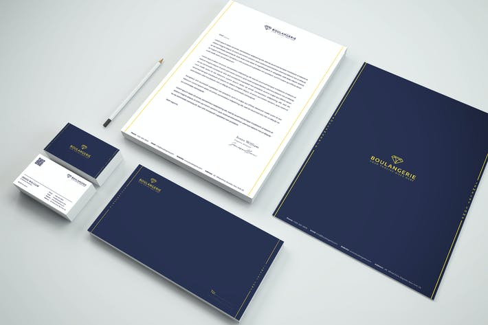 Thumbnail for Company Tech Branding Identity & Stationery Pack
