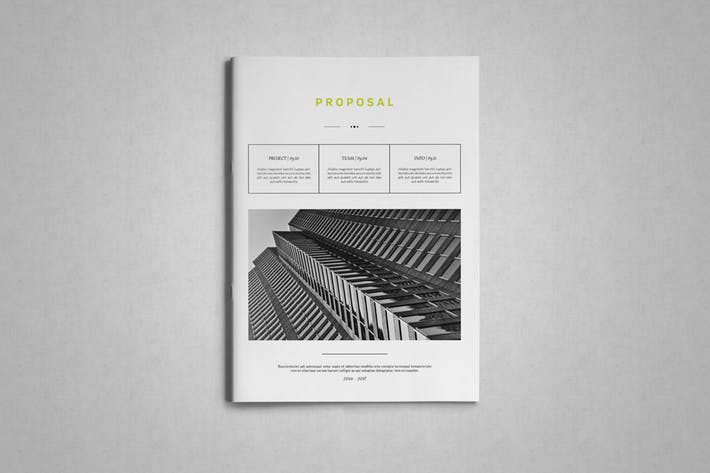 Cover Image For Indesign Business Proposal Template