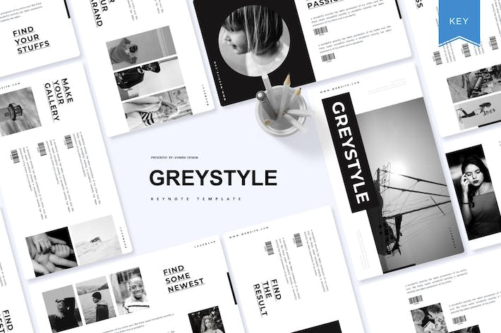 Thumbnail for Greystyle | Keynote Template