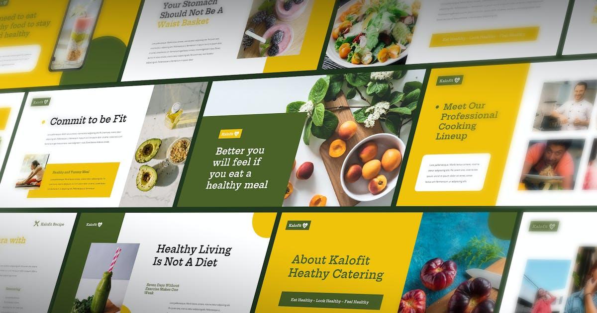 Download Kalofit - Healthy Food Powerpoint Presentation by Slidehack
