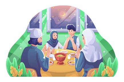 Iftar Ramadan Illustration