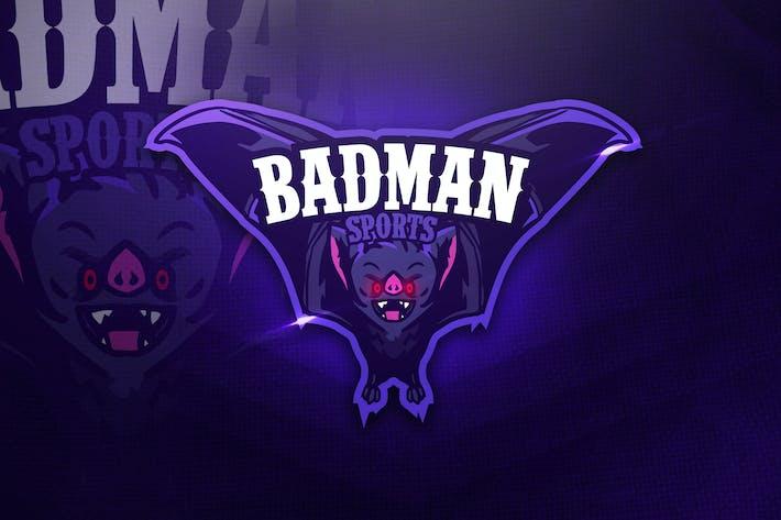 Thumbnail for Badman Sports - Mascot & Esport Logo
