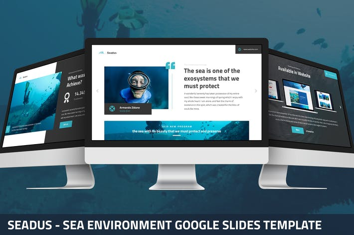 Seadus - Морская среда Google слайды Шаблон