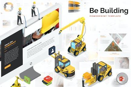 Шаблон Powerpoint для зданий и сооружений
