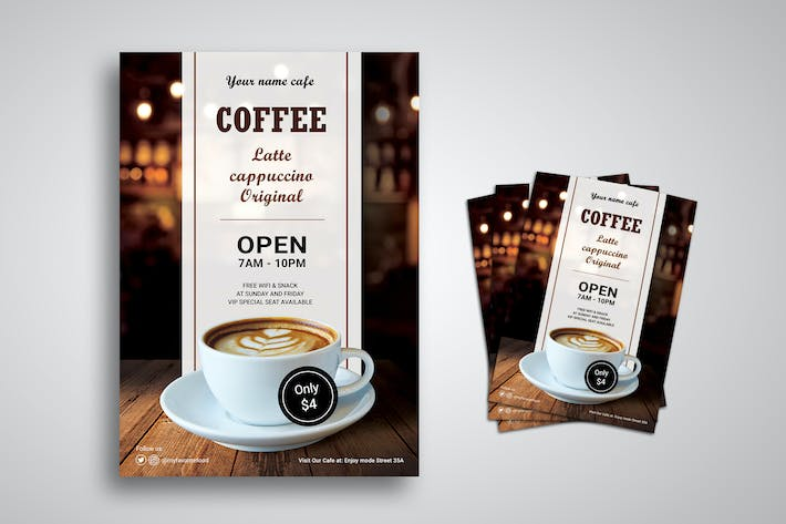 Cover Image For Coffee Shop Promo Flyer