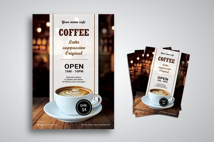 Thumbnail for Coffee Shop Promo Flyer