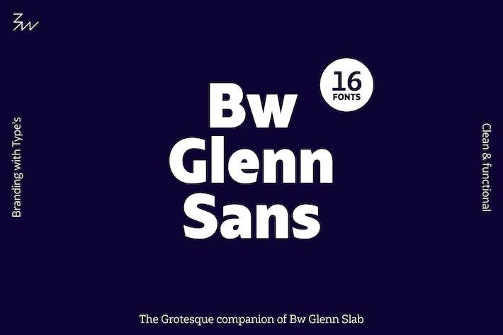 Thumbnail for Bw Glenn Sans font family