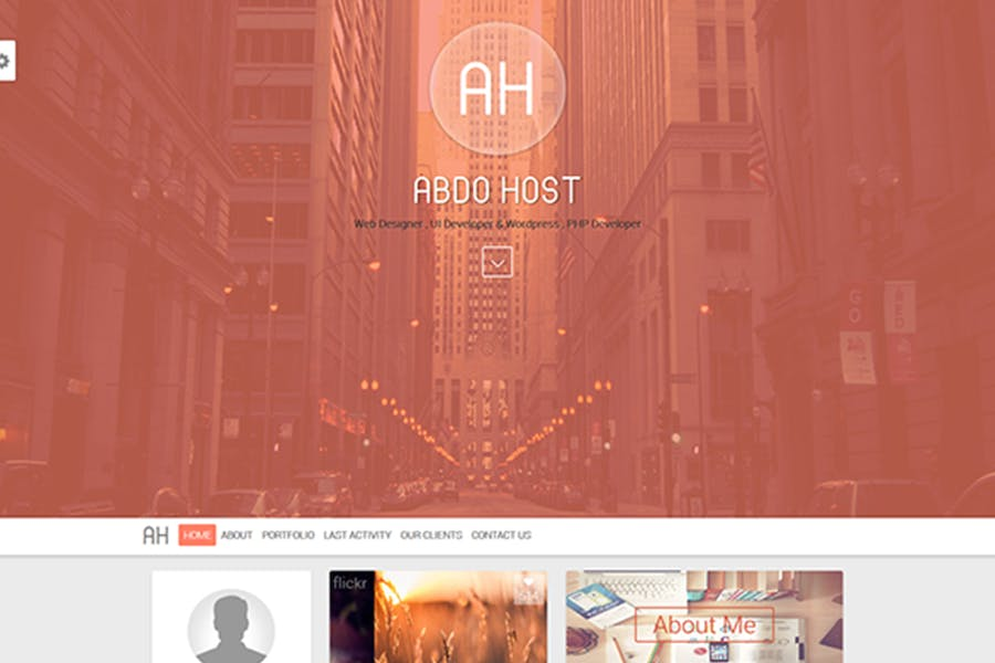 AH - Creative Personal Resume And Blog Template