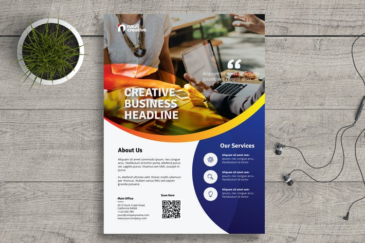 Thumbnail for Corporate Business Flyer PSD and Vector Vol.16