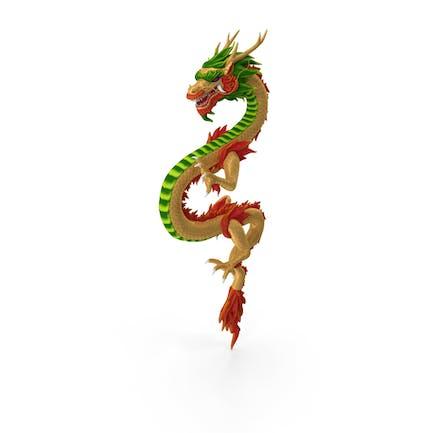 Dragón chino multicolor