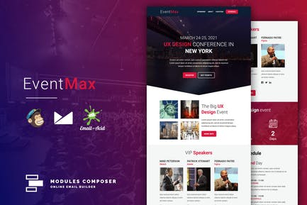 EventMax - Event / Conference Responsive Email