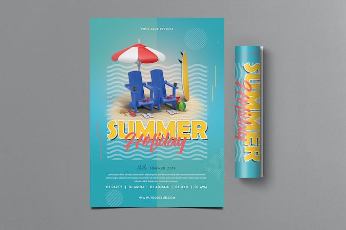 Thumbnail for Summer Holiday Flyer