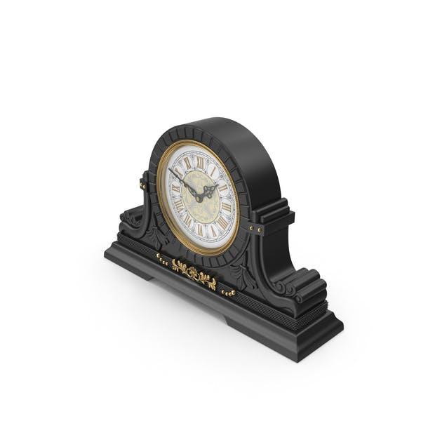 Black Table Baroque Clock