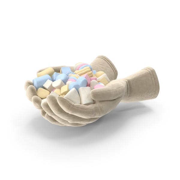 Gloves with Mixed Marshmallows