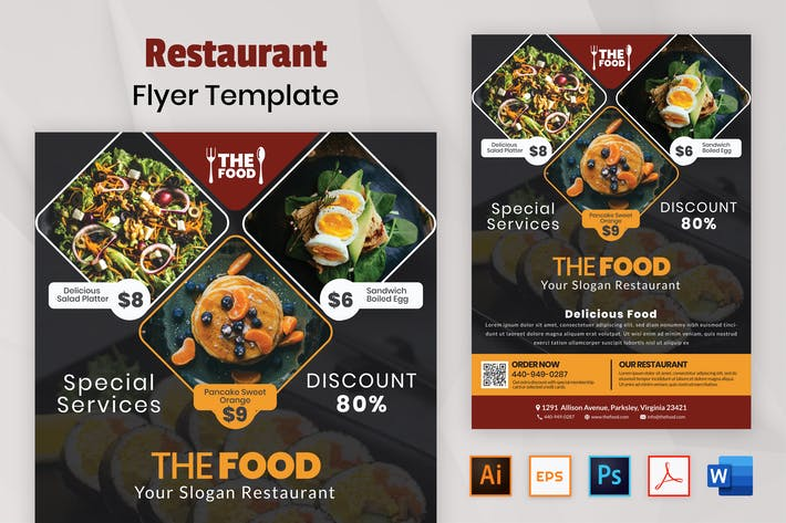 Thumbnail for Nuzie - Restaurant Flyer