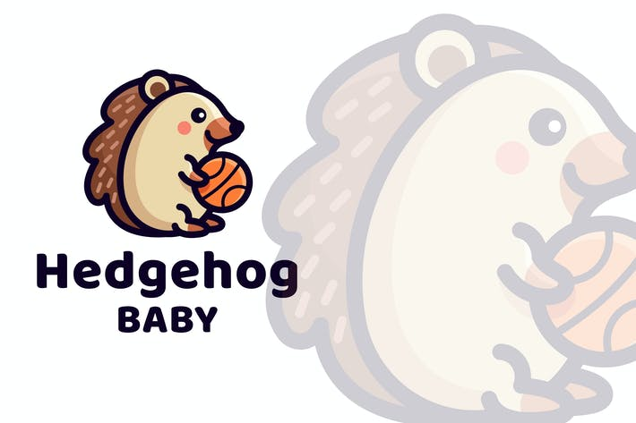 Thumbnail for Hedgehog Baby Cute Logo Template