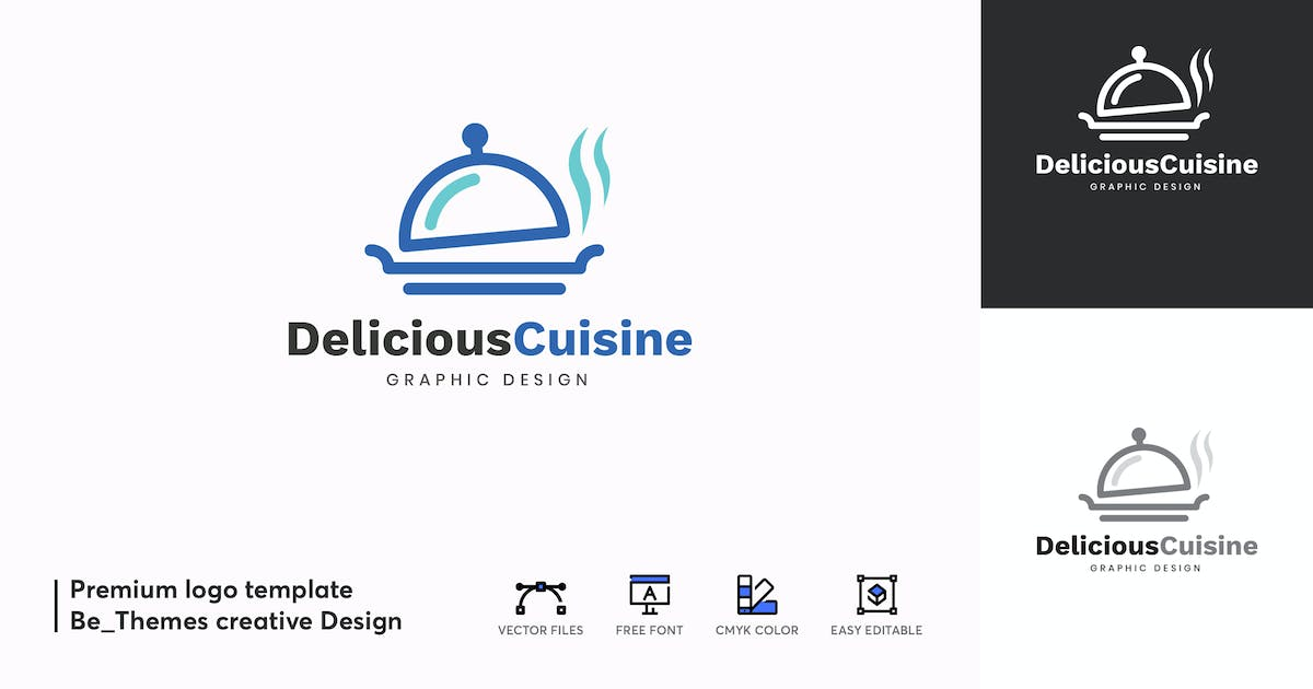 Download Deliciouse Cuisine Logo Template by Be_Themes