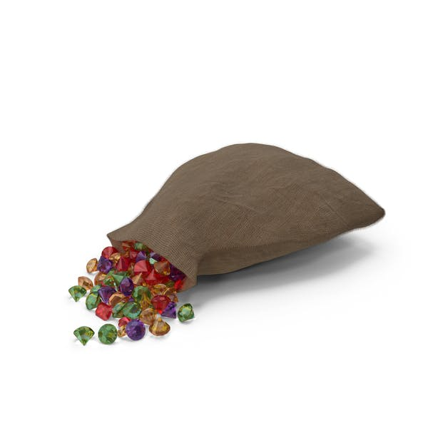 Sack with Mixed Gems