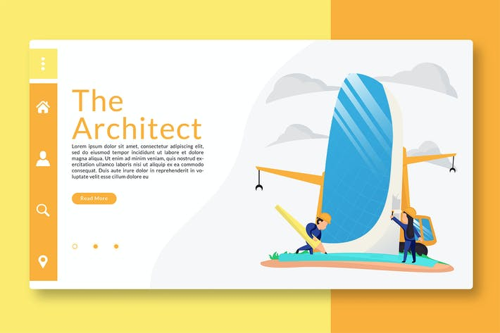 Cover Image For The Architect - Web Header & Landing Page GR