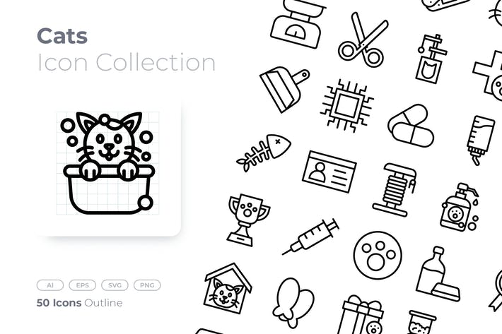 Cats Outline Icon