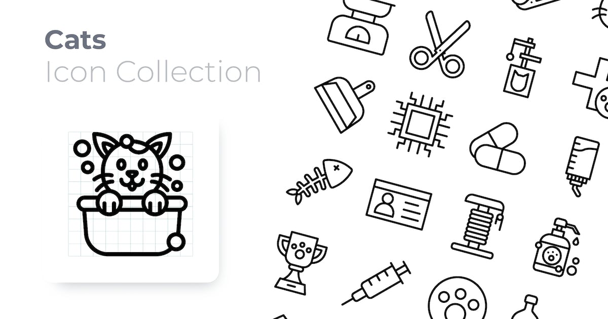 Download Cats Outline Icon by GoodWare_Std
