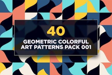 40 Geometric Colorful Art Patterns Pack 001