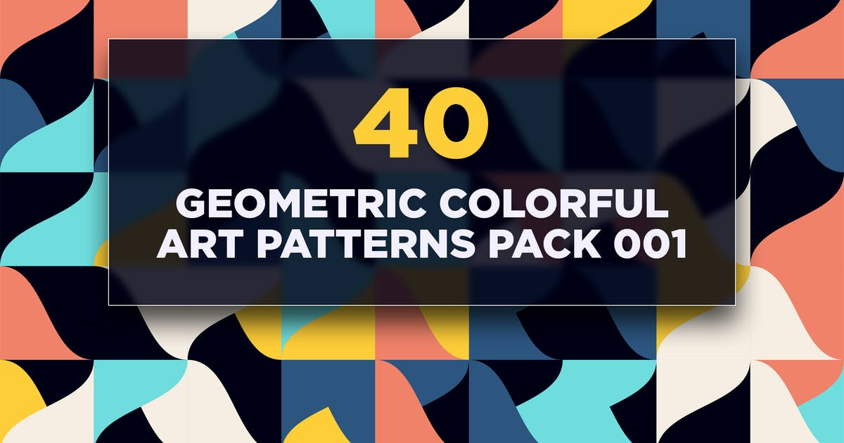 Download 40 Geometric Colorful Art Patterns Pack 001 by traint