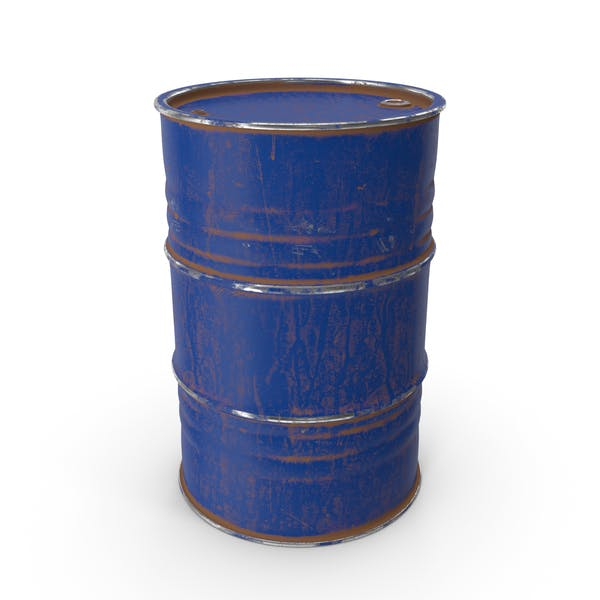 Metal Barrel Painted Blue