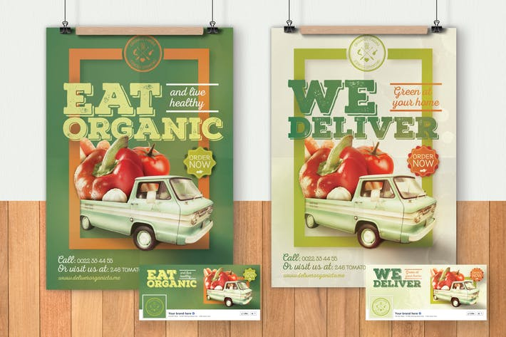 Cover Image For Organic Food Flyer & Poster