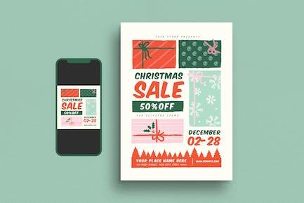 Christmas Sale Event Flyer Set