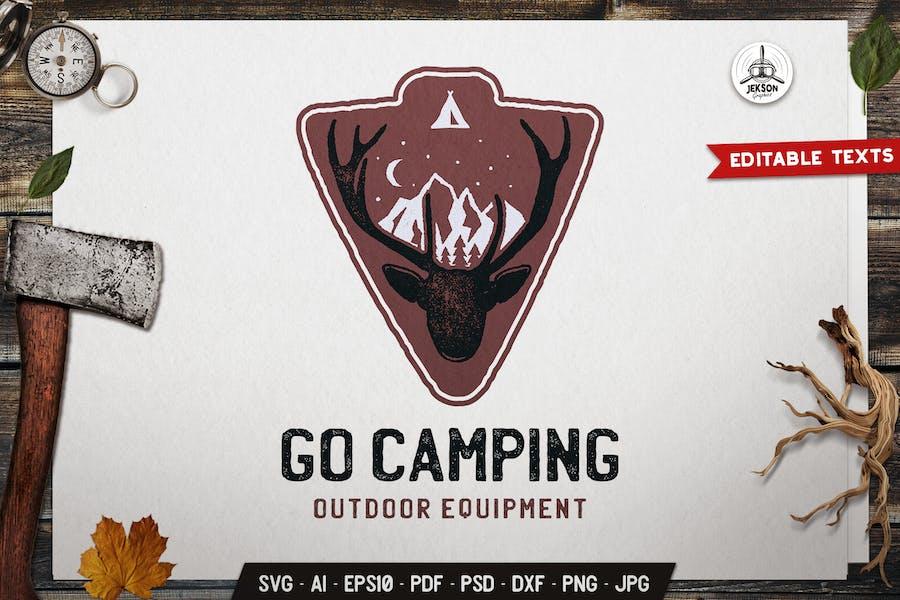 Go Camping Emblem Retro Logo SVG. Travel Badge