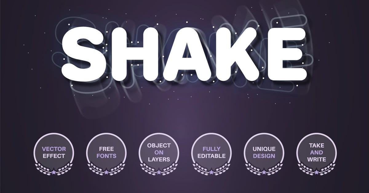 Download Shake splatter  - editable text effect font style by rwgusev