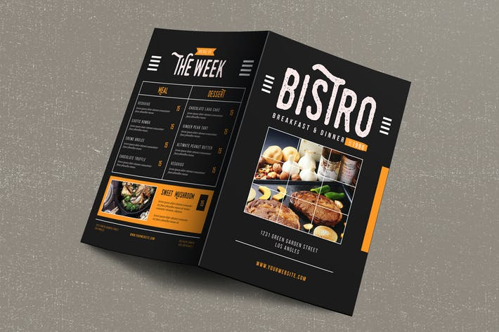 Thumbnail for Rustic Bifold Restaurant food Menu