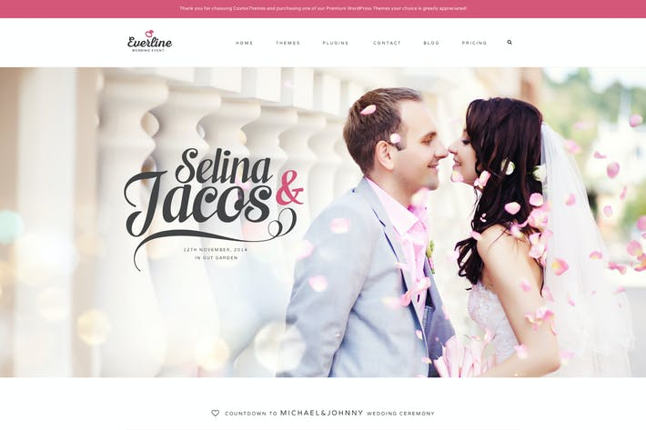 Thumbnail for Everline - Wedding Events HTML Template