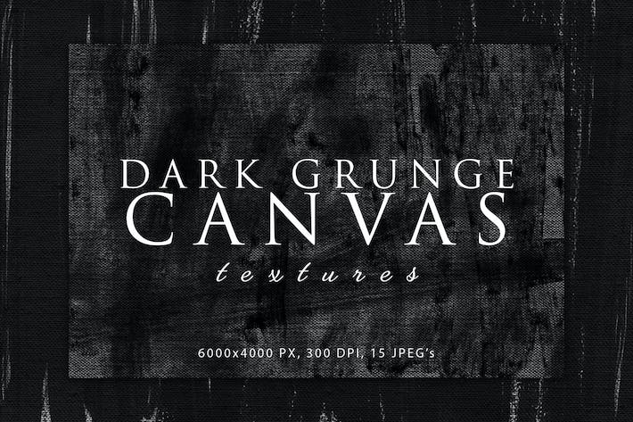 Dark Grunge Canvas Textures