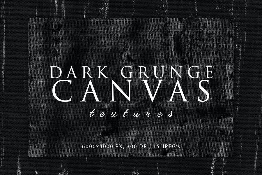 Dark Grunge Canvas Textures