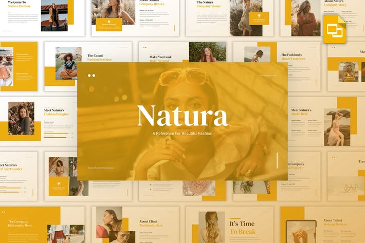 Thumbnail for Natura - Красивая мода Google Слайды Шаблон