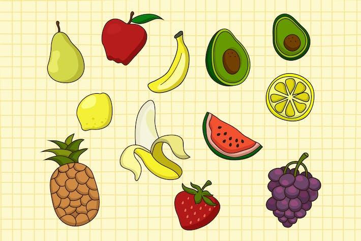 Frucht-Doodle