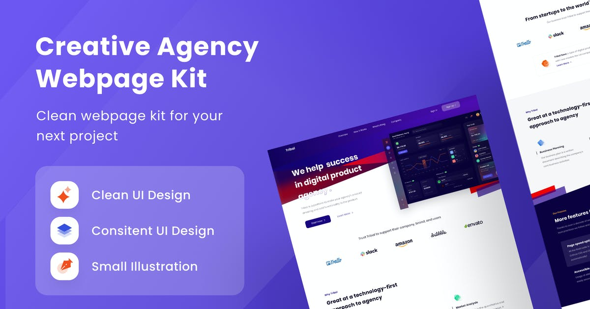 Download Creative Agency Webpage Kit by DimoGraphic